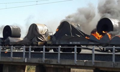 [LISTEN] Police monitoring situation in North West after torched train