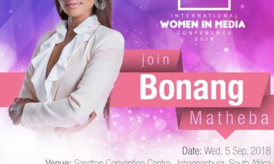 Bonang withdraws as MC of the International Women in Media Conference