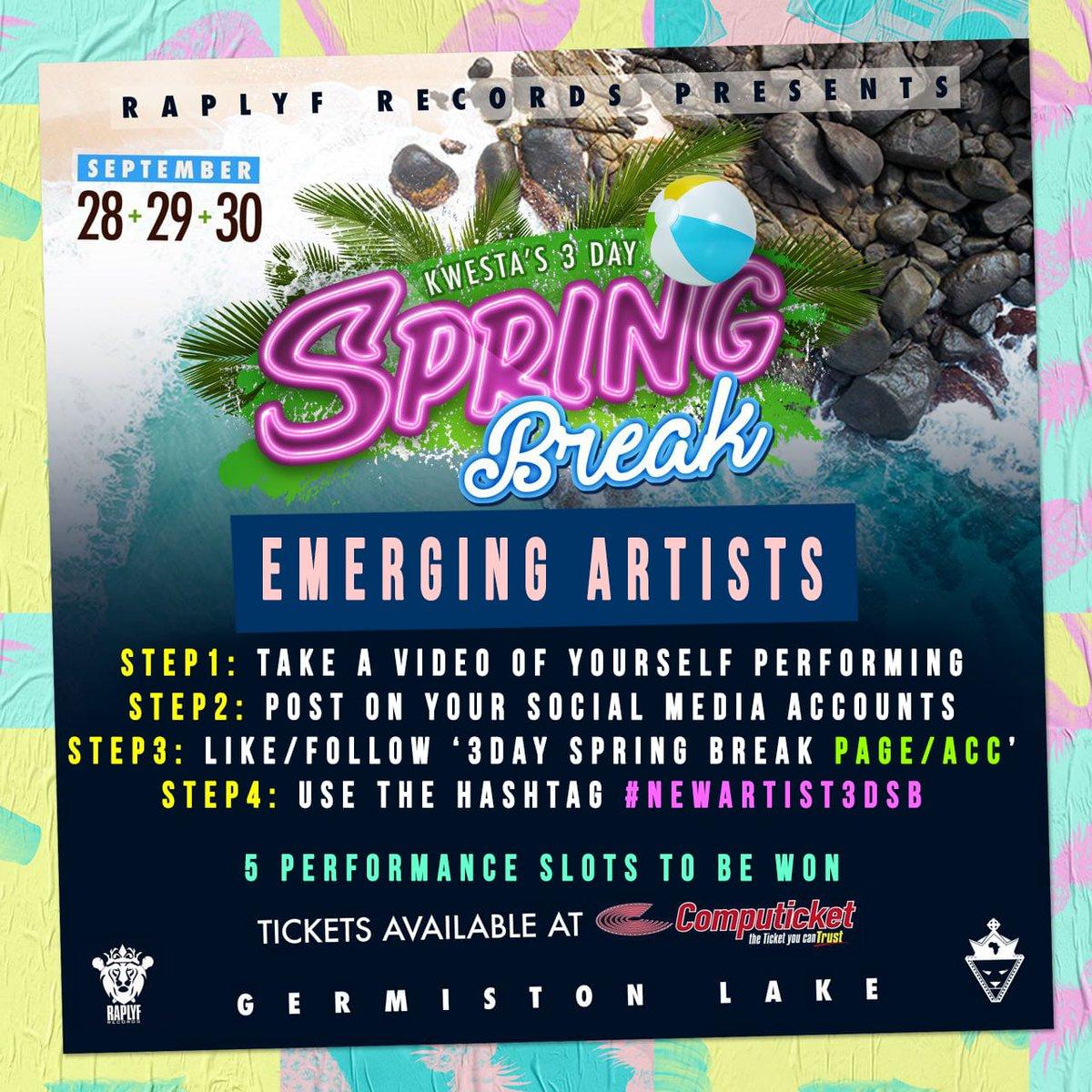 Top 20 artists revealed for Kwesta's 3 Day Spring Break