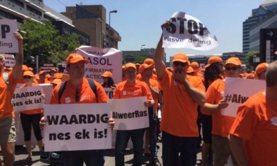 Solidarity members to march to Sasol offices against alleged discrimination of white employees
