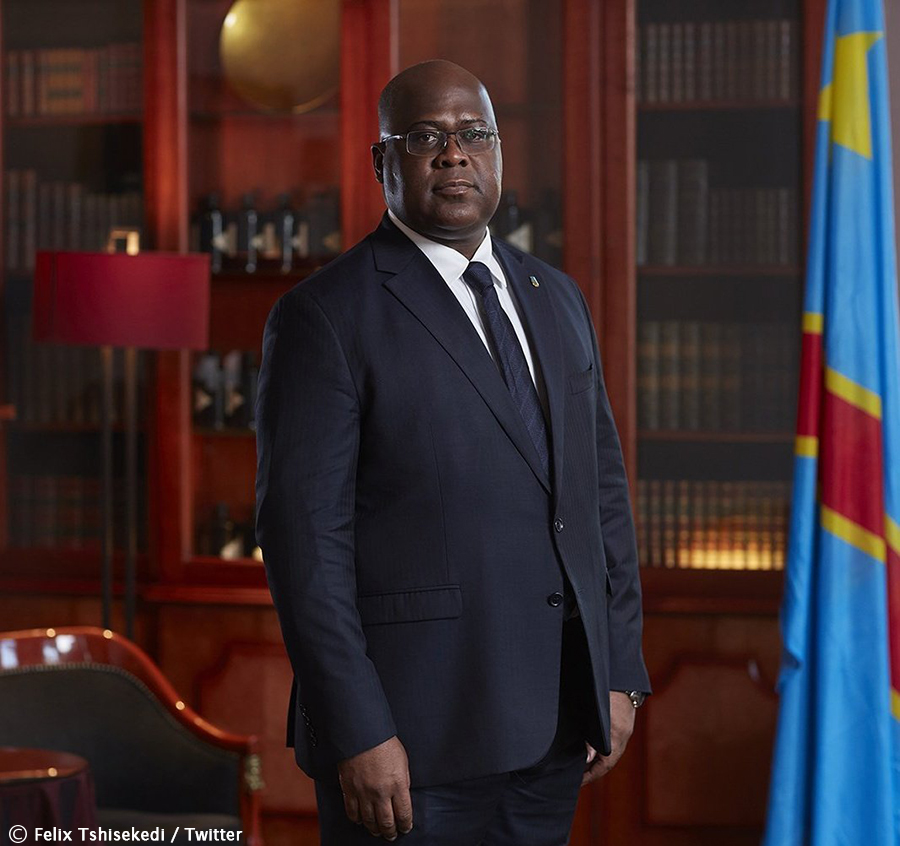 DRC president experiences 'dizzy spell' during inauguration speech