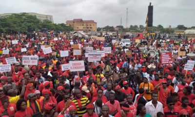 Ghana's opposition party, NDC, peacefully demonstrates against ruling NPP administration